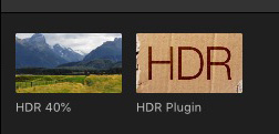HDR plug-in from FCPeffects
