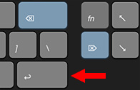 The two different delete keys on a Mac keyboard.