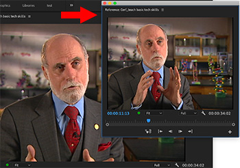 The Reference Monitor in Adobe Premiere Pro CC.