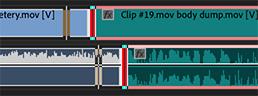 Create a split edit in the Premiere timeline.
