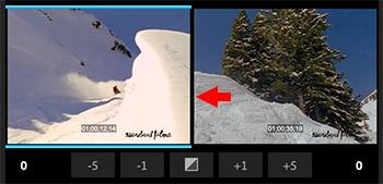 The Dynamic Trim window in Adobe Premiere Pro CC.